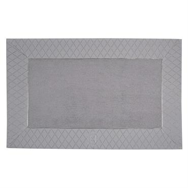 Tapis de bain en coton gris 50 x 80 cm HÔTEL