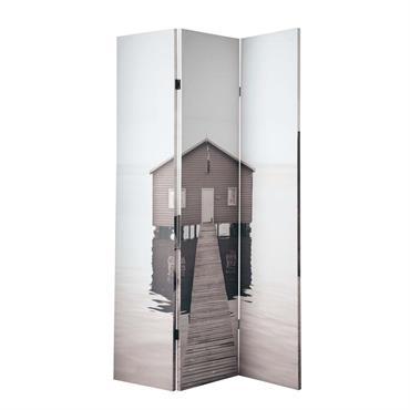 Paravent imprimé en bois L 120 cm SEA SIDE