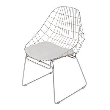 Chaise en métal chromé Orsay