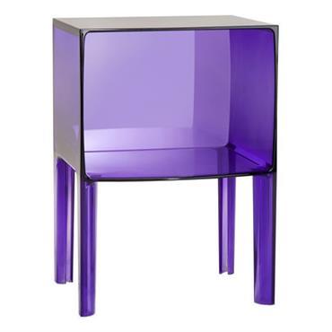 Table de chevet Small Ghost Buster - Kartell violet en matière plastique