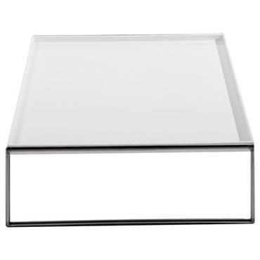 Table basse Trays carré - 80 x 80 cm - Kartell blanc
