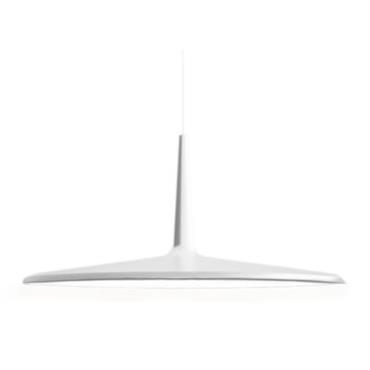 Suspension Vibia Design Blanc Matière plastique Ø 30 x H 14 cm - Longueur max. câble : L 200 cm - Rosace : Ø 17,3 cm Un exercice de synthèse ...