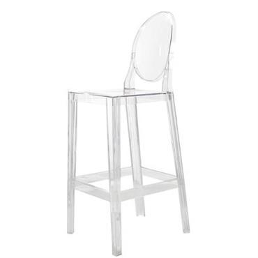 Chaise de bar One more / H 65cm - Plastique - Kartell
