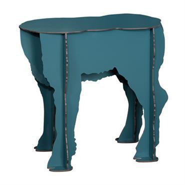 Tabouret Scotty / Table d´appoint - Ibride Bleu pétrole en Matière plastique