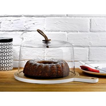 Plat à gâteau avec cloche
