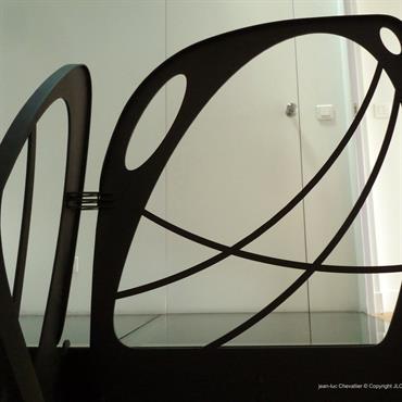 Garde corps design en verre