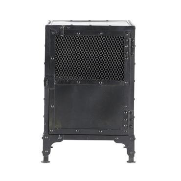 Table de chevet indus en métal noire L 40 cm Edison