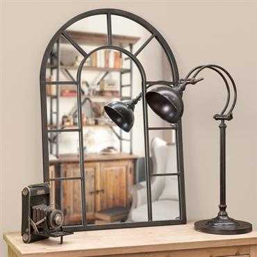 Miroir en métal effet rouille 60x90