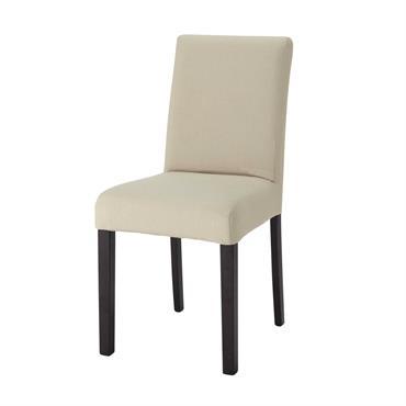Housse de chaise en coton mastic Tempo