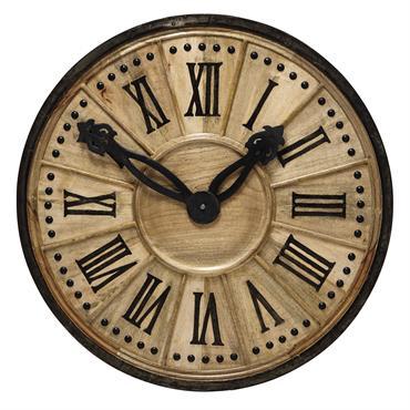 Horloge décorative en bois D 120 cm LANGLOIS