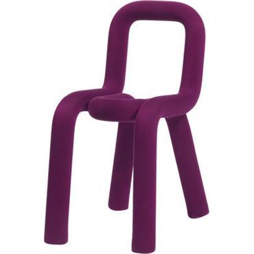 Housse de chaise / Pour chaise Bold - Moustache violet en tissu