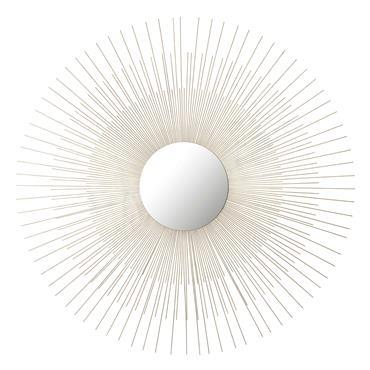 Miroir en métal doré D 95 cm ALYSÉE