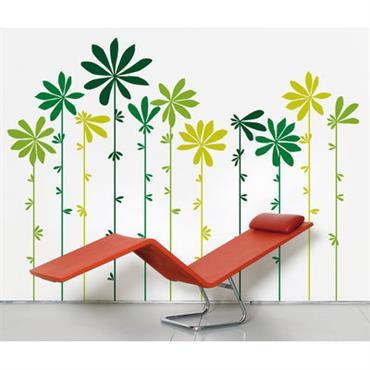 Sticker Tournesol Green - Domestic vert en matière plastique