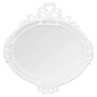 Miroir en bois blanc H 52 cm SERRAGLIO