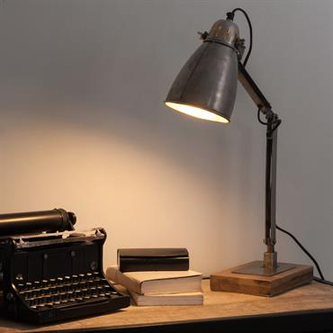 Lampe de bureau indus orientable en métal H 61 cm PHILADELPHIA