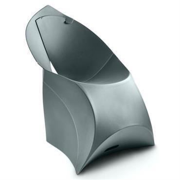 Fauteuil enfant Flux Chair / Pliable - Flux gris anthracite en matière plastique