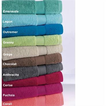 Eponge 100% coton, 500g/m² Lavable à 60° Eponge liteau unie jacquard