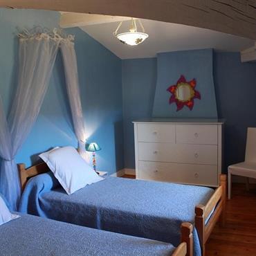 La chambre Sauvignon et ses lits twins