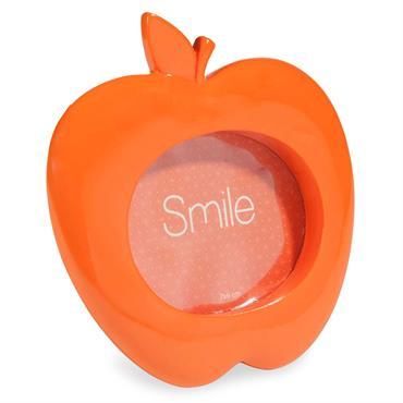 Cadre photo pomme orange 7x6 cm