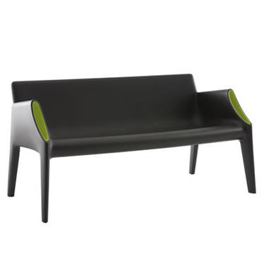 Canapé droit Magic Hole / L 141 cm - Kartell noir