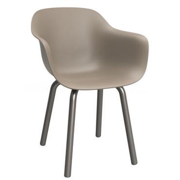 Chaise Substance / Plastique & pieds métal - Magis beige
