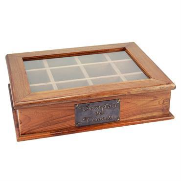 Boîte à tisanes en bois 26 x 34 cm