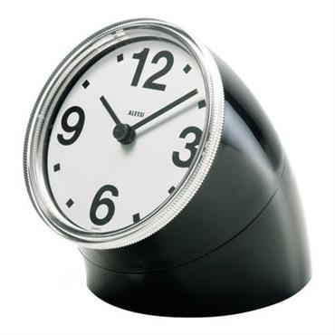 Horloge à poser Cronotime - Alessi noir en matière plastique