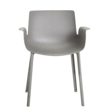 Chaise Piuma / Plastique - Kartell gris en matière plastique