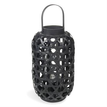 Lanterne en bambou noire H 33 cm COMODORO