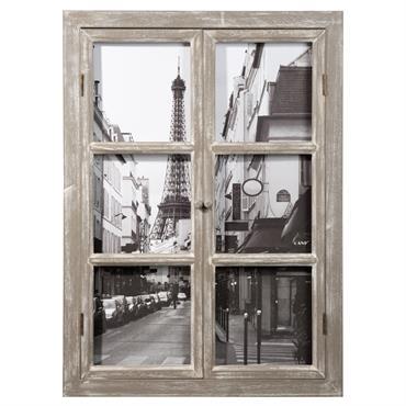 Tableau fenêtre Tour Eiffel 57x79