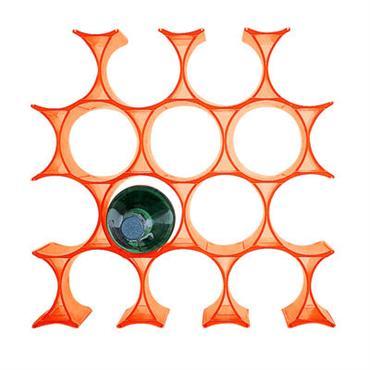 Casier à bouteilles Infinity - Kartell orange en matière plastique