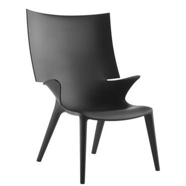 Chaise Uncle Jim - Kartell noir opaque en matière plastique