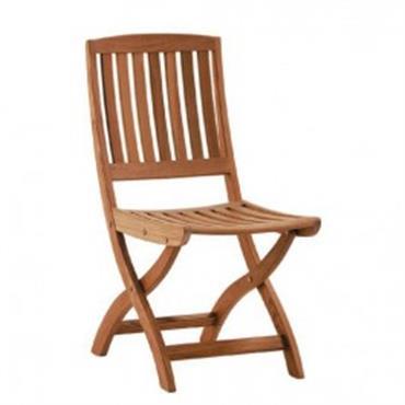 Chaise de jardin pliante avec des lattes en bois
