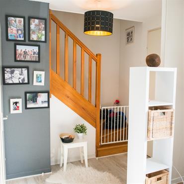 Escalier classique en bois