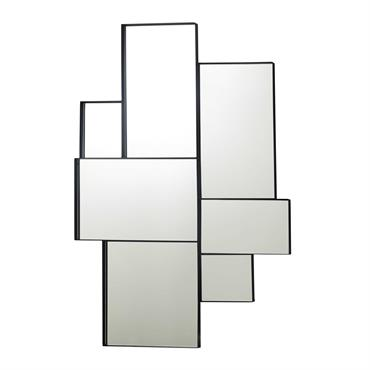 Miroir en métal noir 89x123