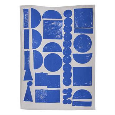 Torchon Stamp - Ferm Living bleu en tissu