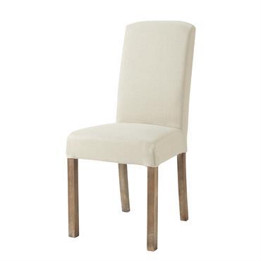 Housse de chaise en lin lavé Margaux