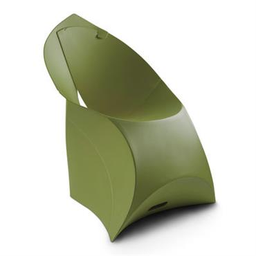 Fauteuil enfant Flux Chair / Pliable - Flux kaki en matière plastique