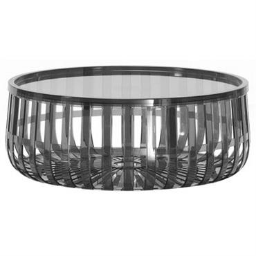 Table basse Panier / Coffre - Kartell fumé en matière plastique