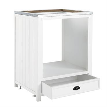 Prévu pour recevoir un four, ce meuble de cuisine blanc apportera un bon coup de fraîcheur à votre cuisine. Sobre et lumineux, cet élément de cuisine en bois de sapin ...