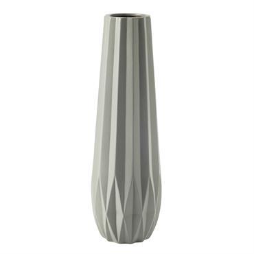 Vase en céramique gris H 69 cm ORIGAMIX