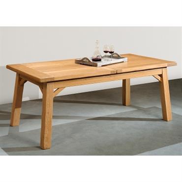 Table rectangulaire à allonges Manufactu re