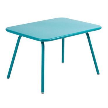 Table enfant Luxembourg Kid / Aluminium - Fermob turquoise en métal