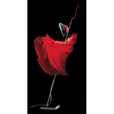 Lampe de sol The MaMo Nouchies - Kokoro - Ingo Maurer rouge