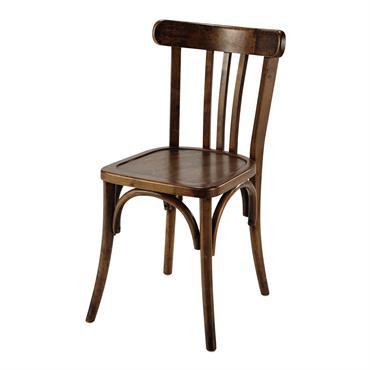 Chaise de bistrot en bois marron Troquet
