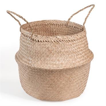 Doté de deux anses, ce grand panier en fibre tressée pourra vous servir de rangement ou bien accueillir les objets déco de votre choix. Idée déco : avec son grand ...