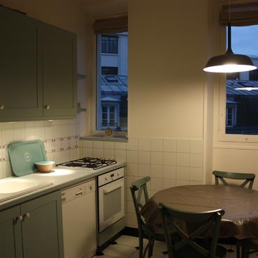 Cuisine et salle à manger traditionnelle
