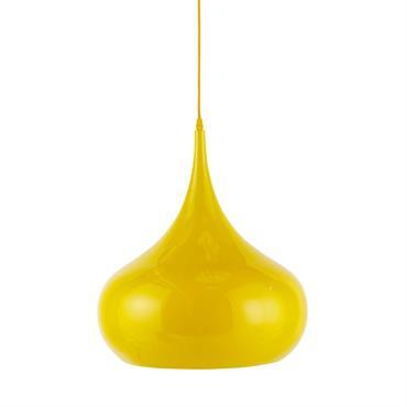 Suspension en métal jaune D 42 cm NOVA
