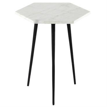 Bout de canapé en marbre L 37 cm CELIA