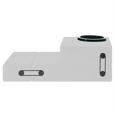 Chauffeuse convertible Trix / Lit d´appoint - Kartell blanc en tissu